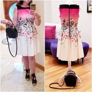 BEAUTIFUL Floral Cotton Fully Lined Dress